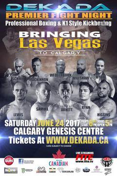 Dekada Premier Fight Night - Arnett vs Samuel
