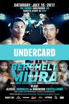 #3: Miguel Bercheit vs. Takashi Miura: Undercard