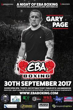 A night of EBA Boxing - 30 September 2017