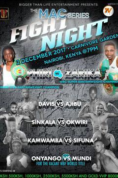 The MAC Series: Fight Night Phiri vs Zarika
