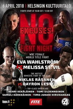 No Excuses Fight Night - Wahlstrom vs St. Vil