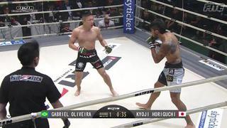 Horiguchi's TKO win against de Oliveira at RIZIN World GP Tournament