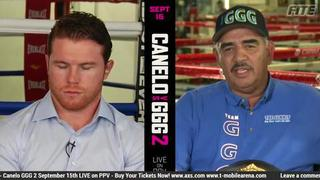 Abel Sanchez and Canelo exchange heated words on the first Canelo vs GGG fight