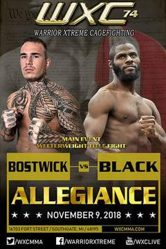 WXC 74 Allegiance - Willis Black vs Jake Bostwick