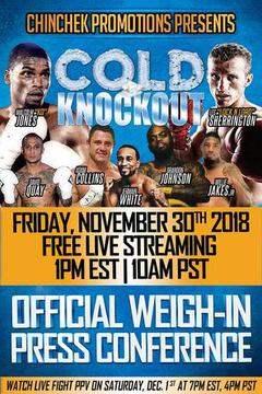 Cold Knockout: Malcom Jones vs. Les Sherrington Weigh In