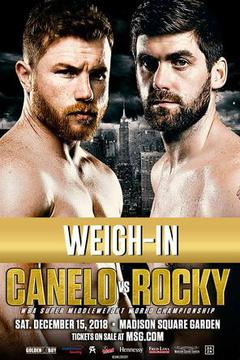 Canelo Alvarez vs. Rocky Fielding: Weigh-In