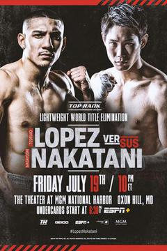 Top Rank: Teofimo Lopez vs Masayoshi Nakatani