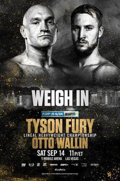 Weigh In: Fury vs Wallin