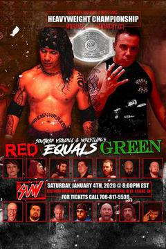 Southern Violence And Wrestling: Red Equals Green