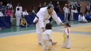 Little Girls Judo Fight