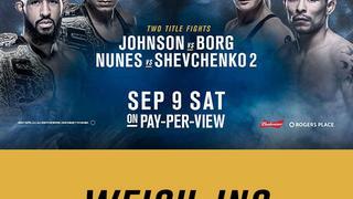UFC 215: Weigh-In