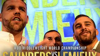 Billy JOE SAUNDERS vs. David LEMIEUX: Press Conference