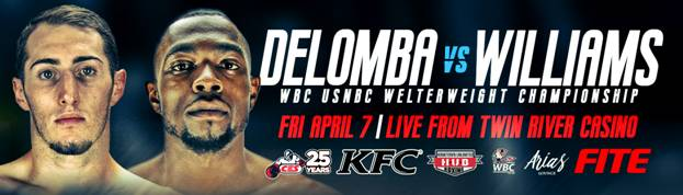 CES teams with FITE to provide live streaming for April 7th DeLomba-Williams WBC title showdown