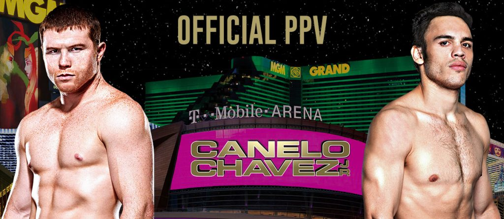 """Canelo vs. Chavez, Jr."", promoted by Golden Boy Promotions, is available to watch in HD in English and Spanish on the Canelo-Chavez.com website for a suggested retail price of $69.99."