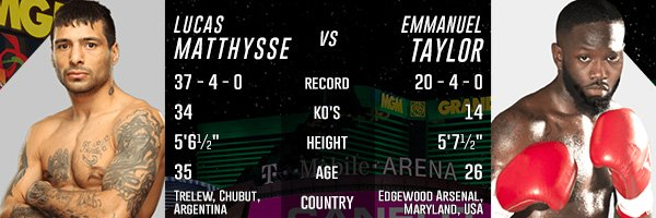 CO-MAIN: MATTHYSSE VS. TAYLOR