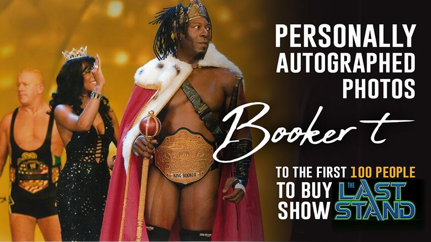 Booker T is sending out autographed photos to first 100 buyers of Reality of Wrestling PPV on FITE this weekend