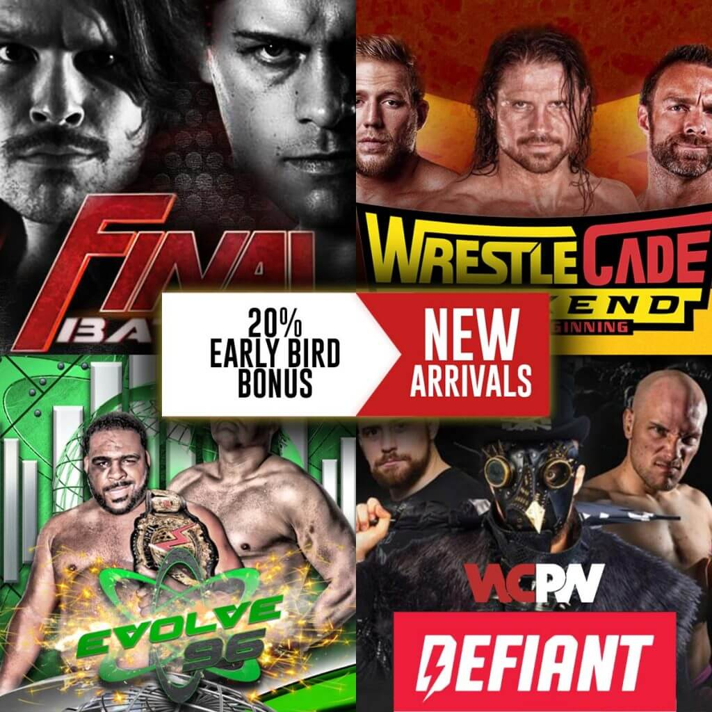 New Arrivals on FITE: Live events from ROH, EVOLVE, WCPW and more