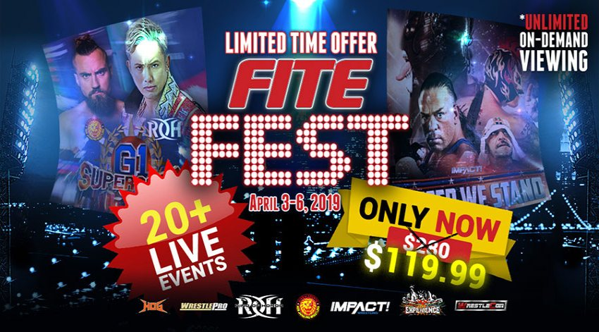 Over 20 Live Pro Wrestling Events Set for FITE Fest April 3–6 from New York