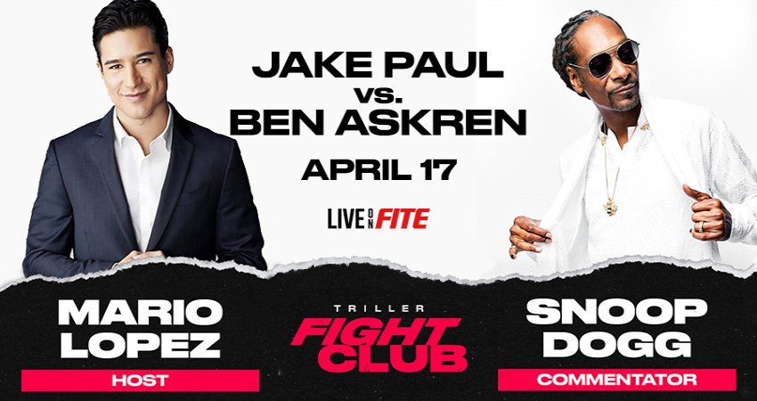 Pete Davidson, Mario Lopez, Supermodel Taylor Hill, Dixie & Charli D'Amelio Join Snoop Dogg To Create All-Star Commentator Team for Triller Fight Club's April 17 Jake Paul vs. Ben Askren Event