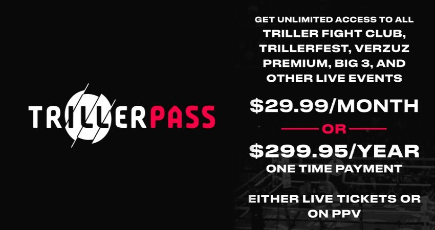 Triller Launches Triller Pass The First Ever Subscription Live Event Service One Time Fee Access To All Fight Club, Verzuz, TrillerFest and Triller Live Events