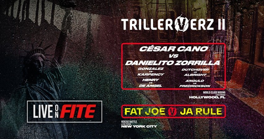 TrillerVerz II Set For Tuesday Night! World Class Professional Boxing From Hard Rock Live